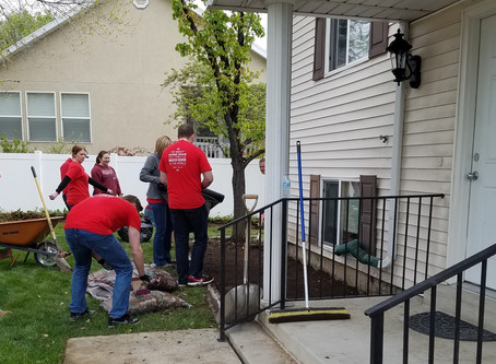 Larry H. Miller volunteers making a difference!