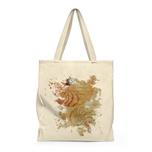 Shell Collage No-001-Shoulder Tote Bag - Roomy