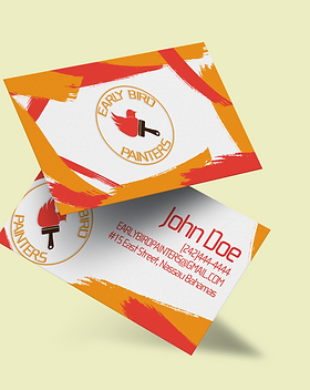 Early Bird Painters Business Card Mockup