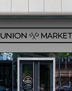 Union Market Door Sign Mockup