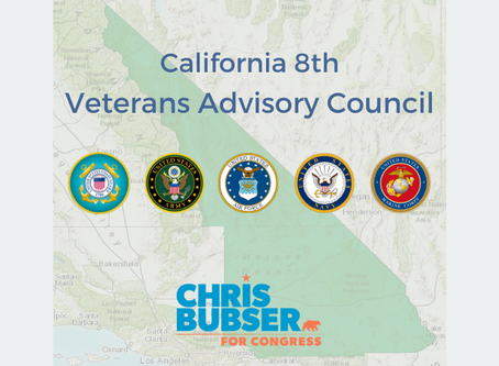 Chris Bubser Announces Formation of Veterans Advisory Council to Guide Veterans Affairs Policy
