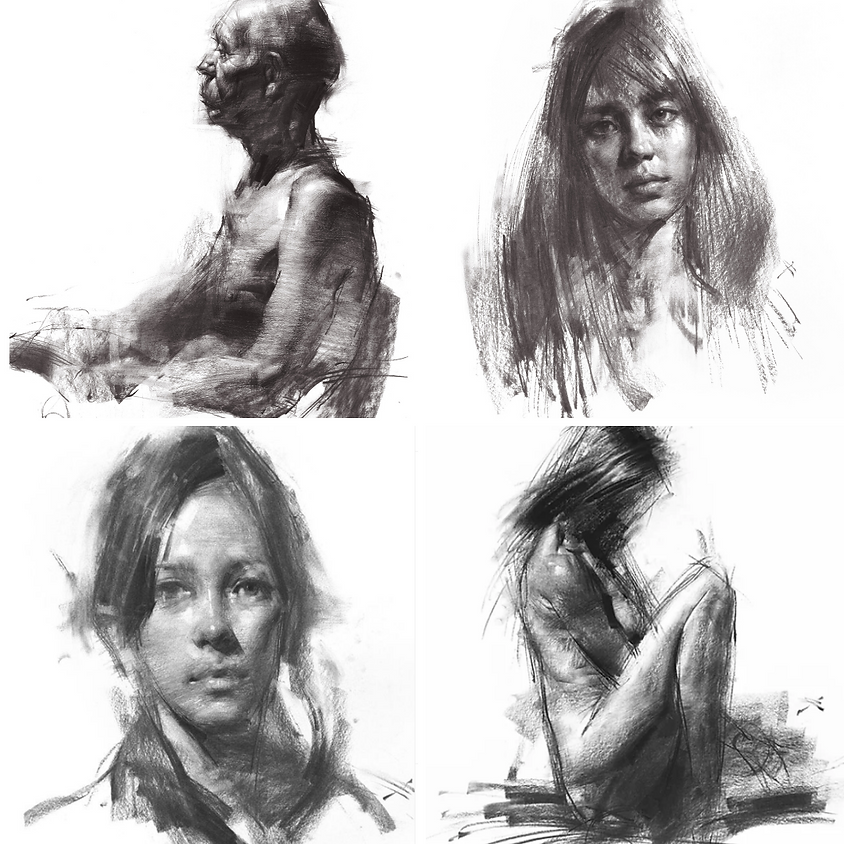 Expressive Portrait Drawing in Charcoal with Zin Lim