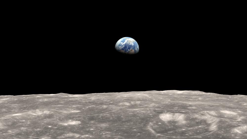 The Earth from the Moon, NASA
