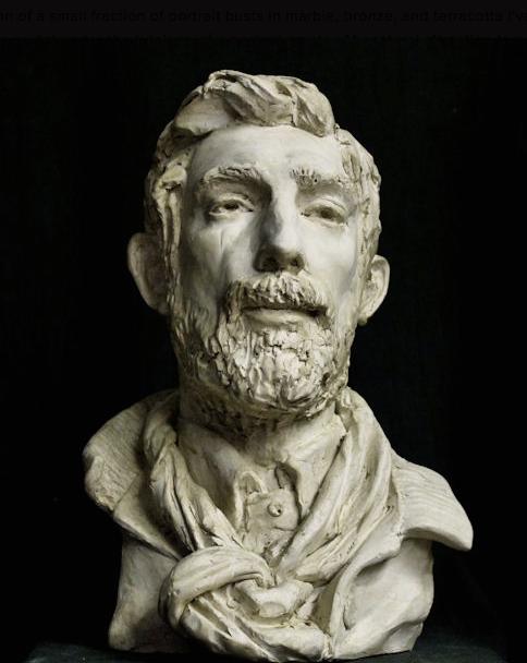 Portrait sculpture by Jason Arkles