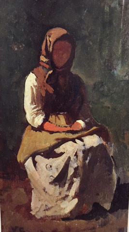 Peasant Woman at Montemurlo, Vincenzo Cabianca