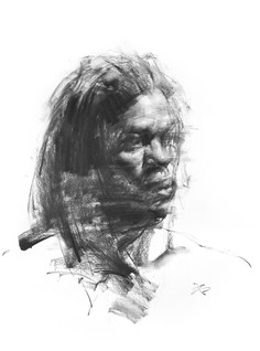 Charcoal Drawing by Zin Lim