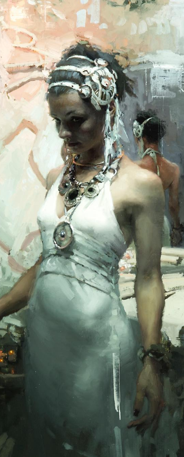 Painting by Jeremy Mann
