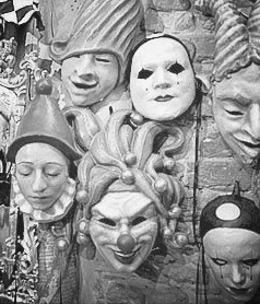 Some of Agostino Dessi's masks