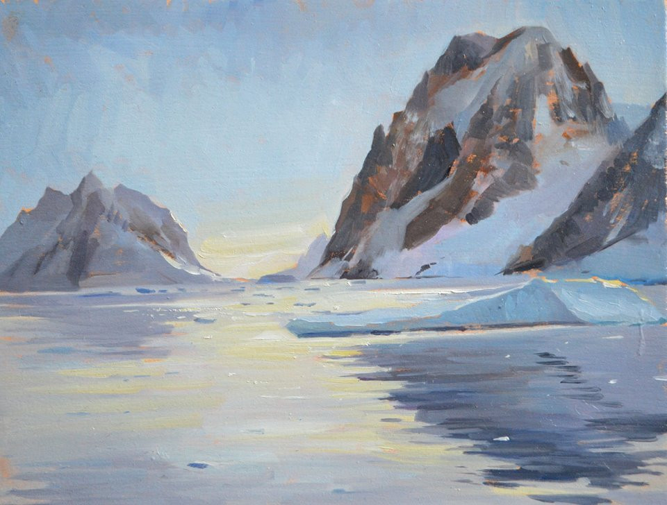 Antarctica painting, Tanvi Pathare