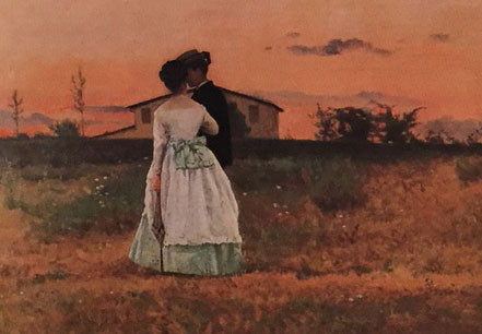 The Betrothed (detail), Silvestro Lega