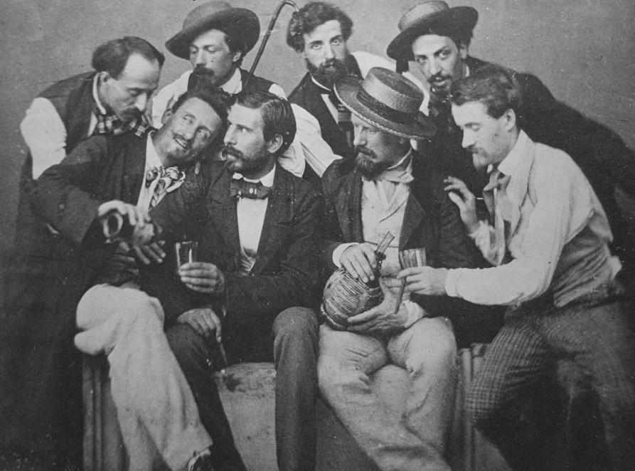 The Macchiaioli at Caffè Michelangiolo c. 1856