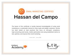 Hubspot email marketing cerfitication