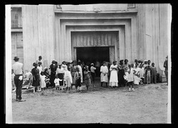 Entrance to refugee camp on the fair grounds, Tulsa, Okla., after the race riot of June 1st