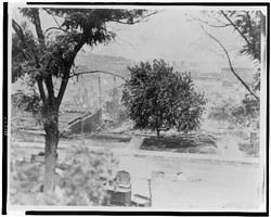 Rubble of houses in African American neighborhood in Tulsa, Okla. after race riots