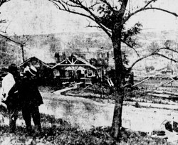 Destruction of residences.