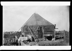 Reconstruction period after the race riot in June at Tulsa, Okla. Types of Red Cross tents