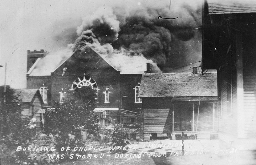 Church burning.