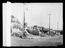 Williams Bldg., West side of 100 blk. N. Greenwood Tulsa, Okla. After race riots, June 1921