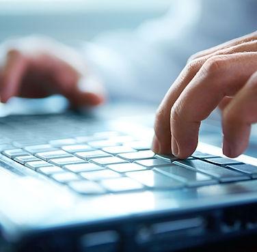 Hands on Computer Keyboard