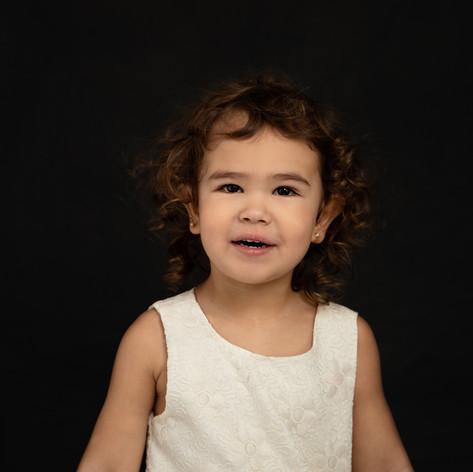toddler girl fine art portrait in studio