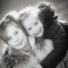 siblings by the Norfolk coast