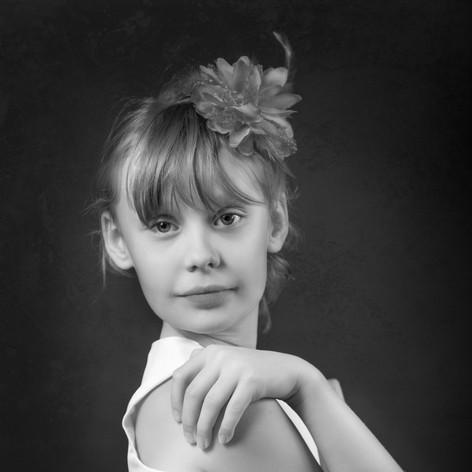fine art portrait of a teenage girl