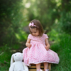 llittle girl in the forest