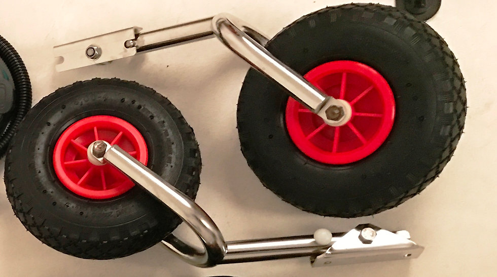 Усиленные колеса для надувной лодки ПВХ. Со сдвоенной вилкой. Купить по цене 5050 руб. в Санкт-Петербурге. Есть в наличии!
