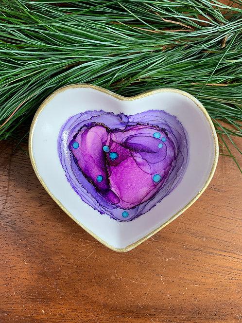 Light Purple Heart Trinket Dish