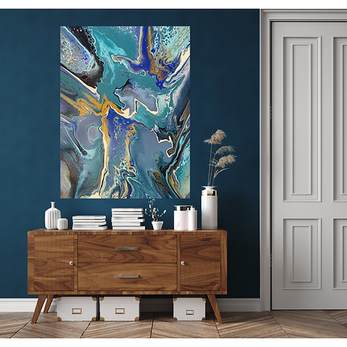 Tropical Story - 36x48 inches