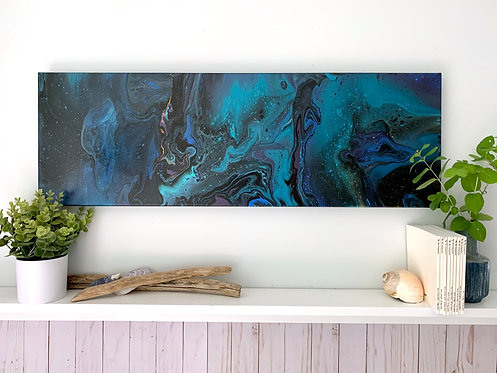 Slow Dive - a 12x36 acrylic painting
