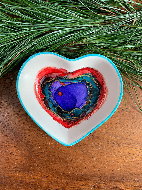 Blue/Red Heart Trinket Dish