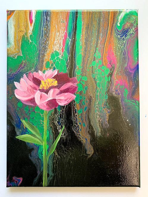 "Dreamy Peony - a 9x12"" acrylic painting"