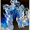 Thumbnail: Blue Flame 1 - a 9x12 acrylic painting