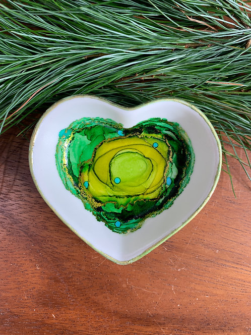 All Greens Heart Trinket Dish