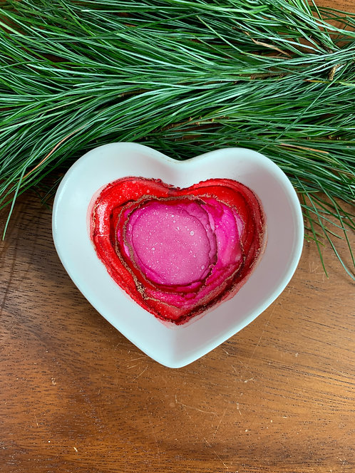 Just Pink Heart Trinket Dish