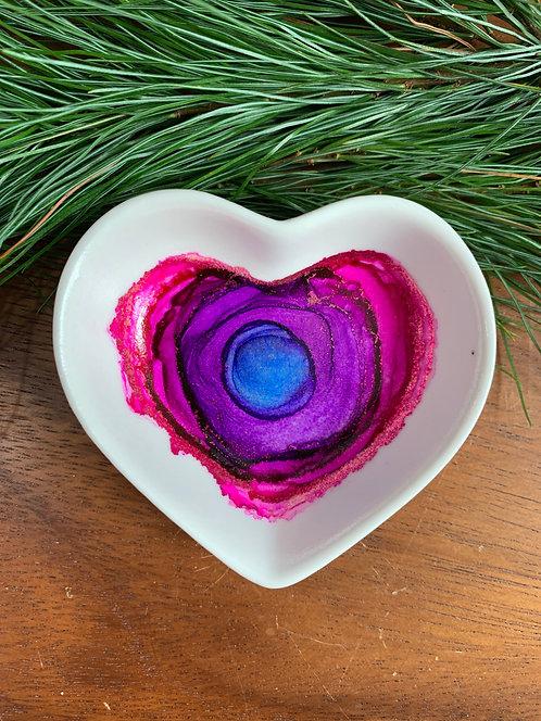 Purple Dream Heart Trinket Dish