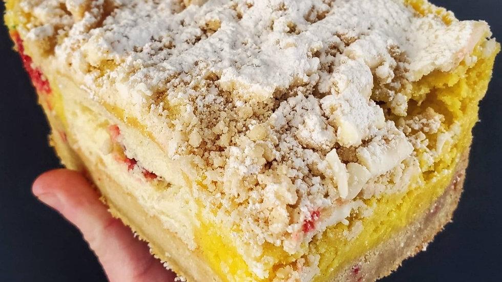 Lemon Raspberry Blondie