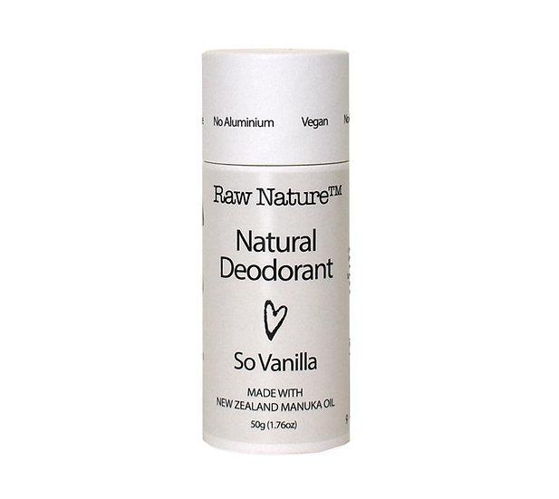 Raw Nature Natural Deodorant - So Vanilla