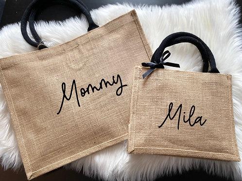 """Taschen-Set """"Mommy"""" & Tochter"""