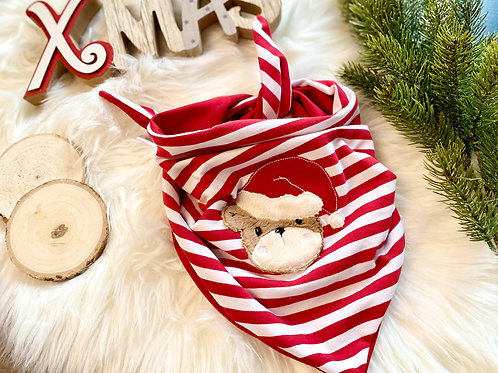 Halstuch Weihnachtsbär gestreift