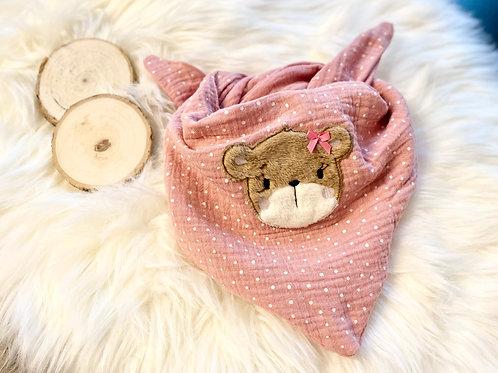 Halstuch Bär rosa