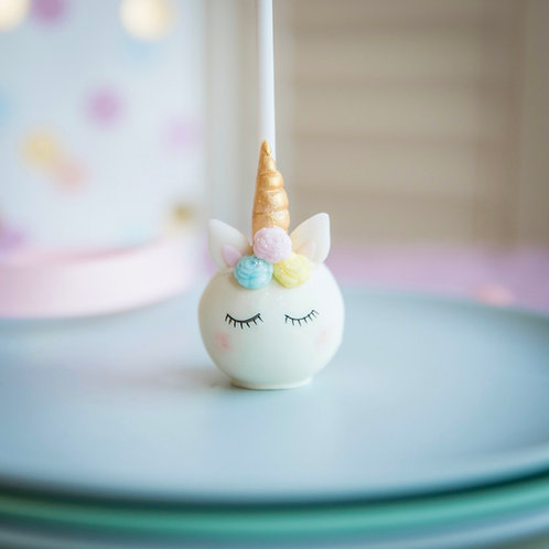 4 Sleeping Unicorn Cake Pops