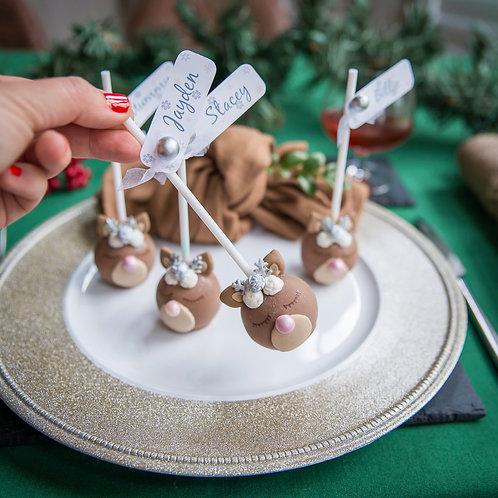 Personalised Reindeer Christmas Place Settings