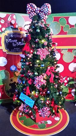 Mickey and Minnie Christmas Tree Disney Springs