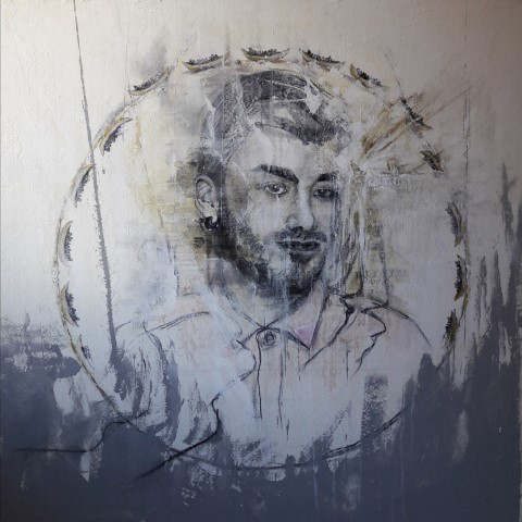 2017 invisible tears 125 x 125 acryl on