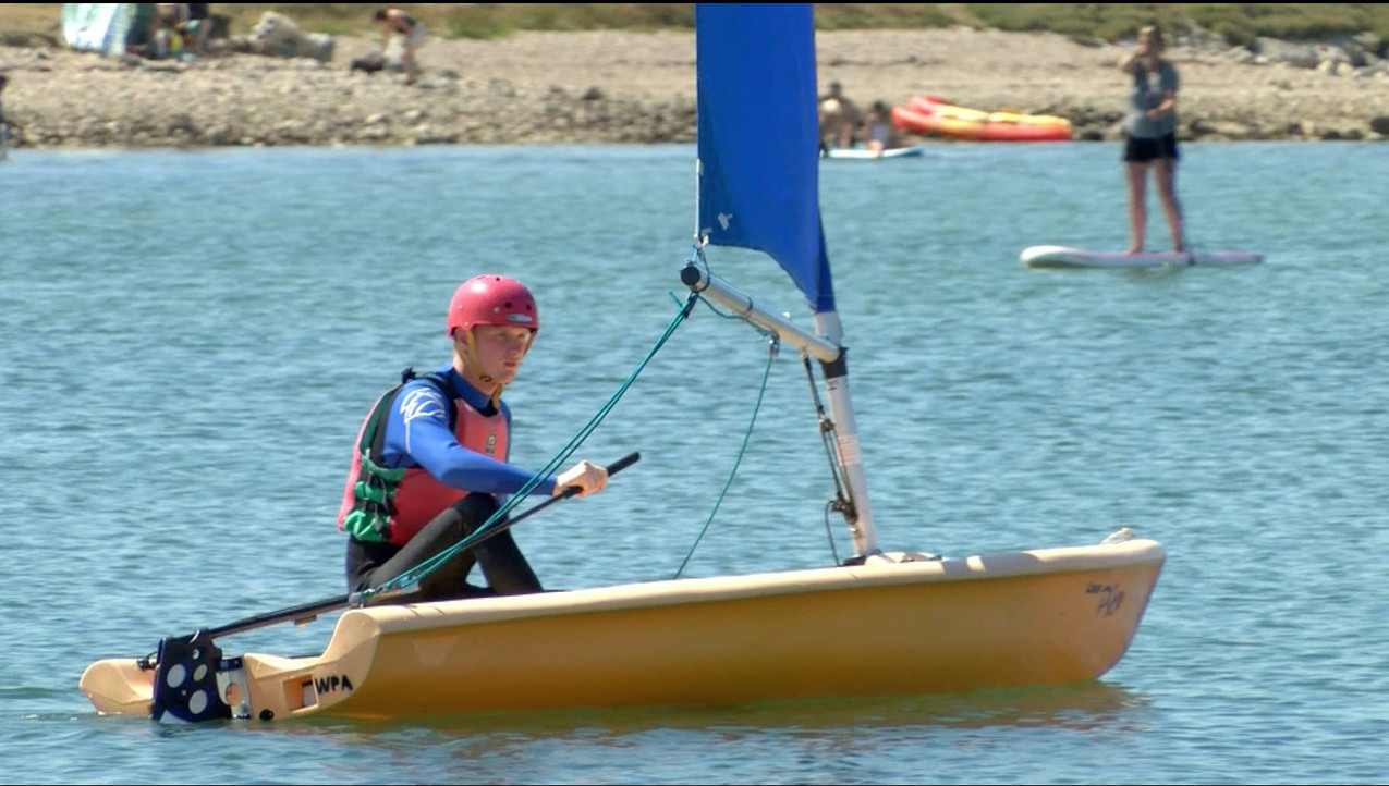 RYA sailing weekend at WPNSA for BBC South West. Picture:John Gurd