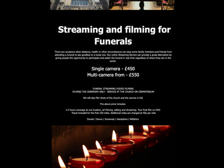 Funeral filming and streaming