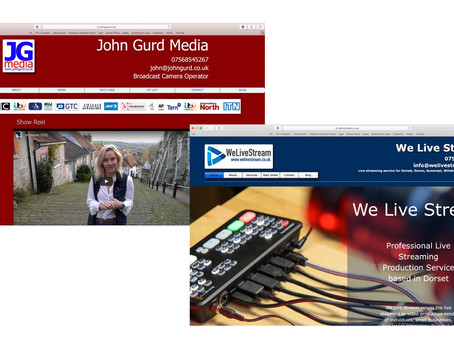 Live streaming & cameraman websites updated...for Dorset, Devon, Somerset, Wiltshire and Hampshire