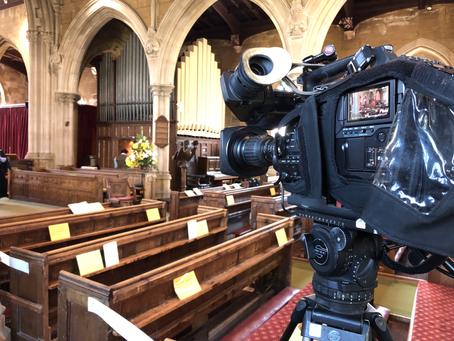 Single camera Dorset wedding live stream